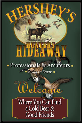 Personalized Hunting Lodge Sign