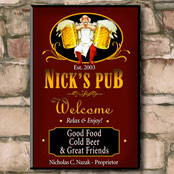 Personalized pub signs and bar signs