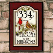 Personalized wood address signs