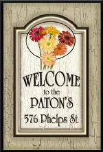 Vertical Daisy Sign