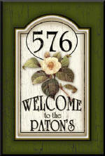 address plaques, welcome signs, personalized signs