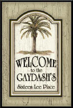 address plaques, personalized welcome signs, personalized signs