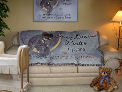 personalized baby blankets and throws