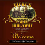 bear cabin personalized bar coaster set