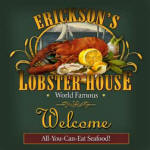 lobster house personalized bar coaster set