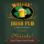 irish pub personalized bar coaster set