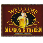 Bar room throw blankets