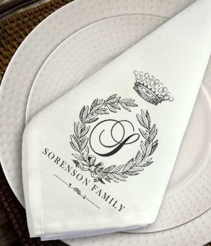 custom personalized napkins. personalized cloth napkins custom