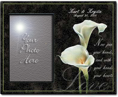 Personalized Calla Lily Picture Frame by Simply Sublime