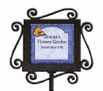 personalized garden stake