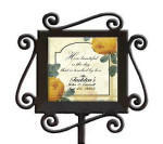 Yellow Rose Garden Marker