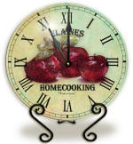 Glass apple Clock