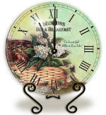 Glass basket Clock