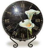 Glass calla lily Clock