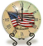 Personalized flag Clock