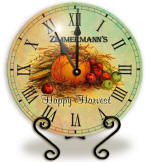 Personalized happy harvest Clock