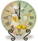 Glass lemonade Clock