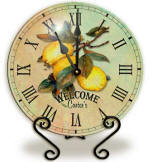Personalized Glass lemons Clock