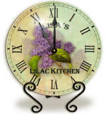 Glass lilac Clock
