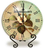 Personalized magnolia Clock