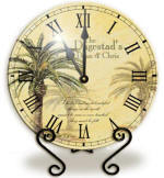 Personalized glass palm tree Clock
