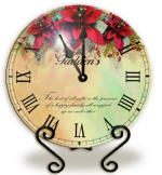 Personalized Poinsettia Clock