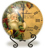Personalized vintage santa Clock