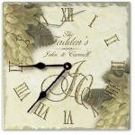 personalized anniversary clock