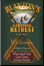 Lakeside Retreat Personalized Pub Signs