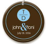 Blue Dot personalized Ornament image