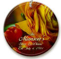 Fall roses personalized ornaments image