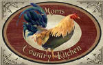 personalized rooster 2 brownie pan