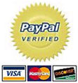 We accept Visa, Mastercard, Discover and Paypal