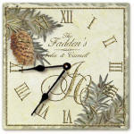 anniversary gifts, personalized clocks