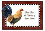 personalized rooster 1 brownie pan