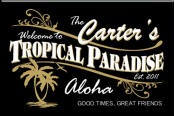 Personalized Tiki Tropical Bar Sign