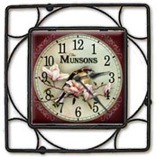 Tile and iron clocks