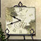 Personalized tile wedding, anniversary clocks