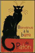 Vintage Black Cat Sign