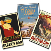 Personalized vintage pub signs